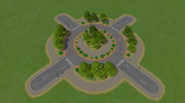Small Green Roundabout