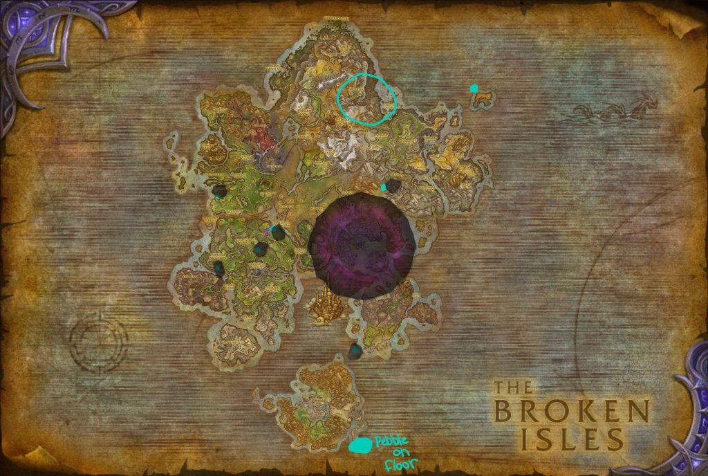 Карта с отмеченными на ней пещерами