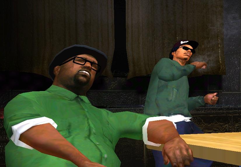 Райдер и Биг Смоук из GTA San Andreas