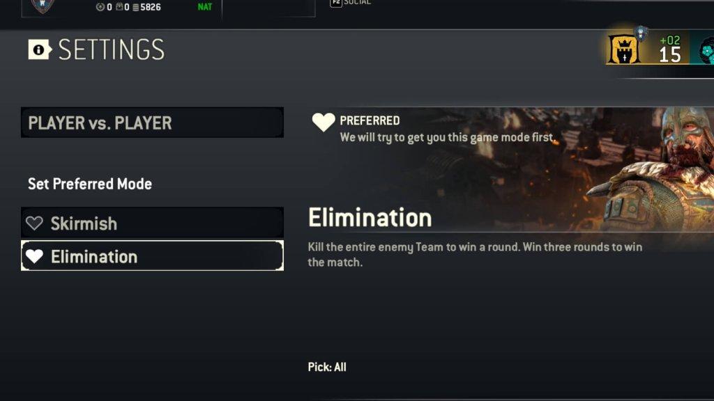 Можно выбирать предпочитаемые режимы игры в мультиплеере