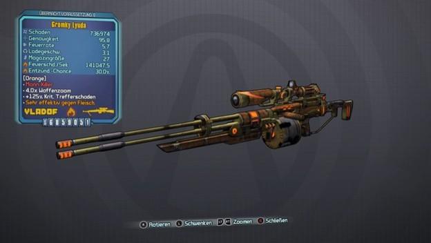 Снайперская винтовка Максим (в оригинале Lyuda) (Borderlands 2)