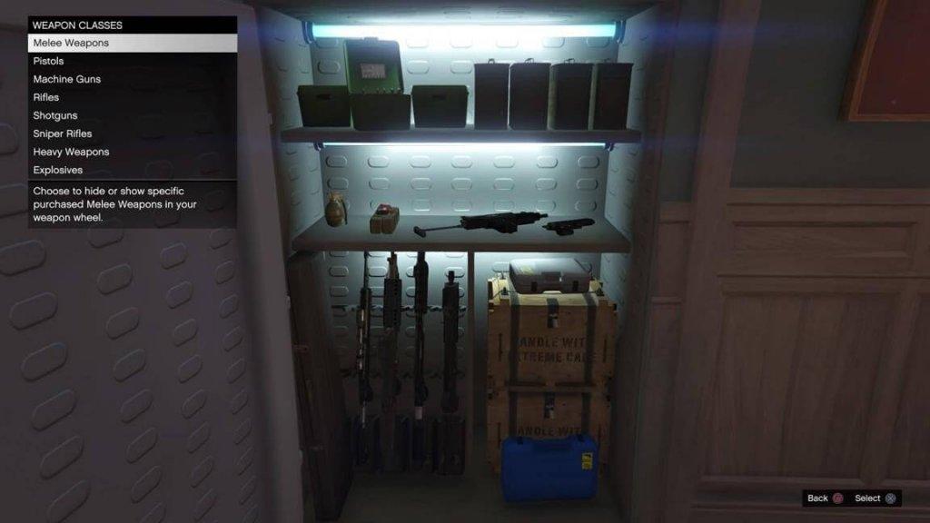Интерфейс выбора оружия