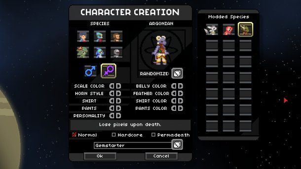 Simple Extended Character Creation Mod