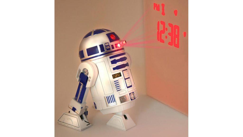 Часы с проектором в виде R2-D2