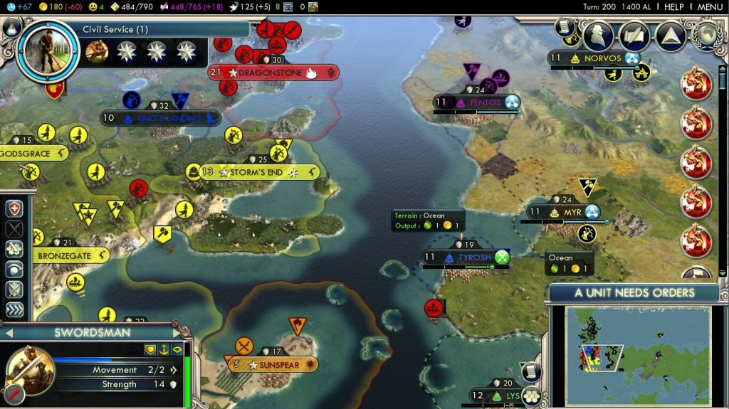Civilization 5—A Mod of Ice and Fire
