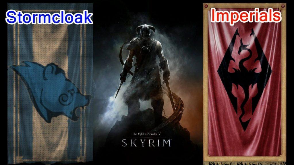 Примкнуть к Братьям Бури и вступить в ряды имперцев (The Elder Scrolls V: Skyrim)