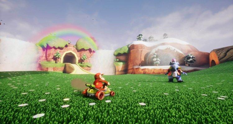 Первые скриншоты игры Diddy Kong Racing