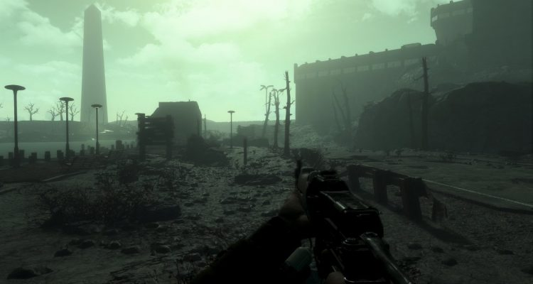 Геймплей фанатского ремейка Fallout 4: The Capital Wasteland