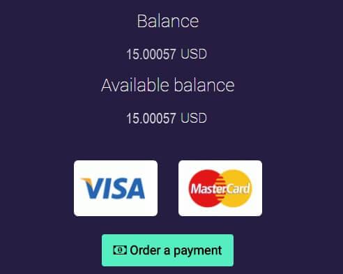 Когда на вашем балансе будет минимум 15$, вы сможете вывести деньги на вашу банковскую карту