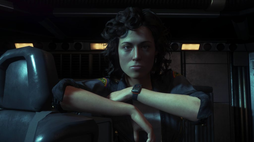 Эллен Рипли на мостике космического корабля «Ностромо».