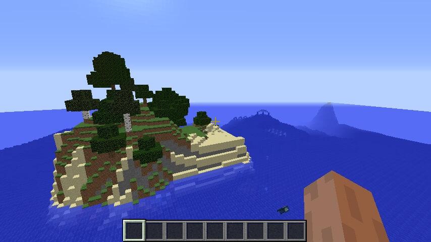 Крошечный остров и подводная крепость