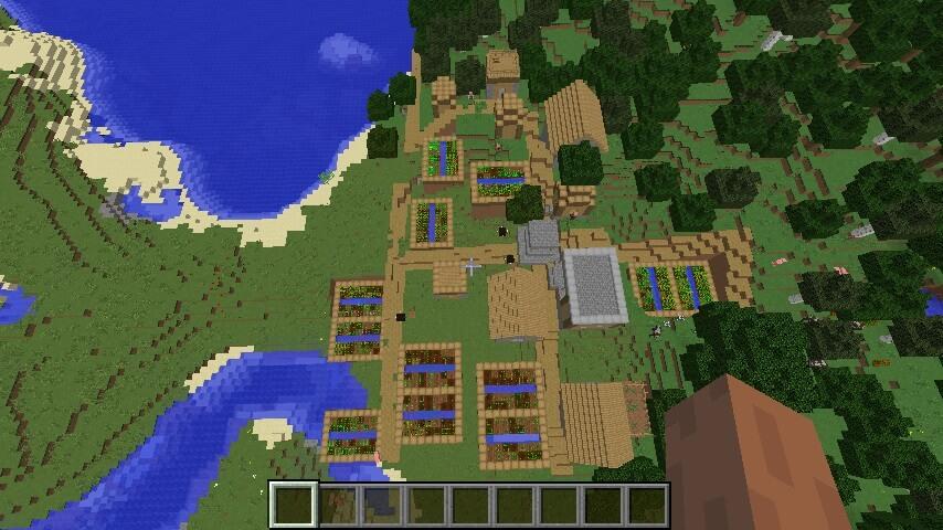 Чудовищно большая деревня у моря