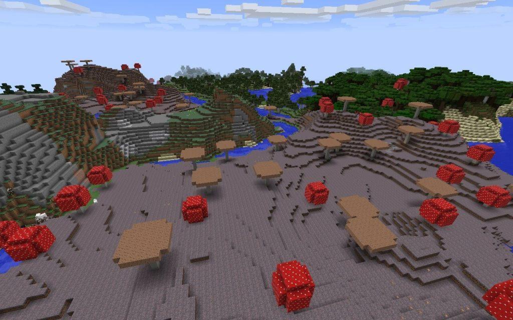 Грибной биом на суше