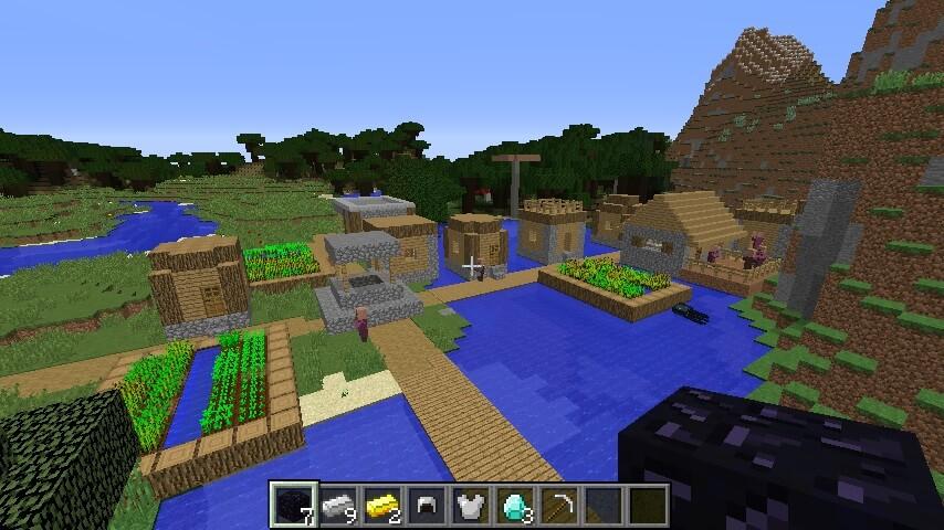 Крутой лут и деревня на воде