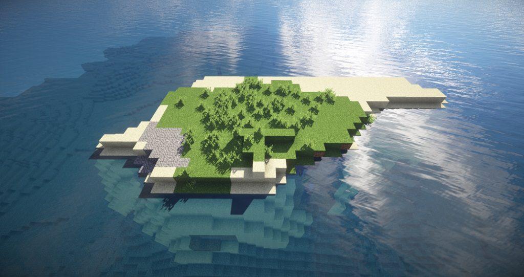 Минималистичный остров для выживания