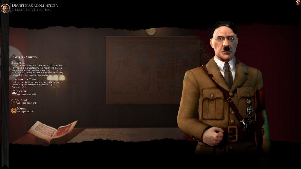 Civilization VI Hitler of Germany