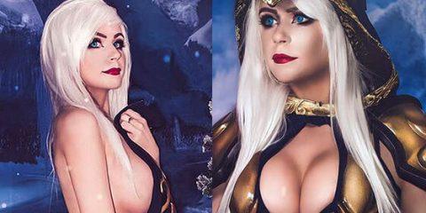 Даниэлла Бьюли и её сексуальный косплей Эш из Лиги Легенд