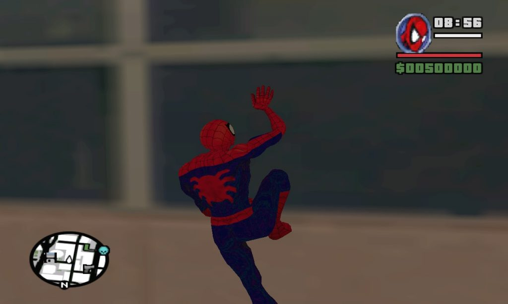 Grand Theft Auto: San Andreas Marvel Spider man Mod