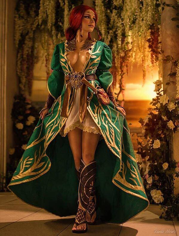 Ирина недавно представила косплей привлекательной Трисс Меригольд из «Ведьмака»