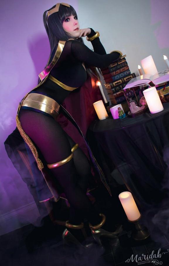 Марида недавно исполнила косплей Сайджо из игры «Знак Огня»