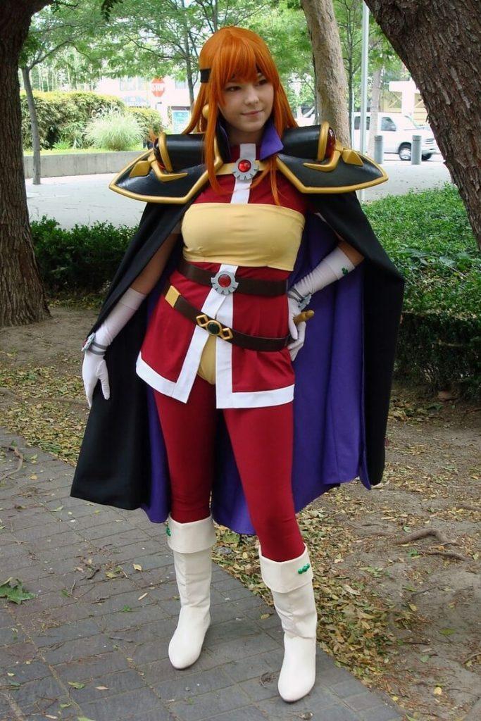 Марида в роли Лины Инверс — косплей аниме-сериала «Рубаки»