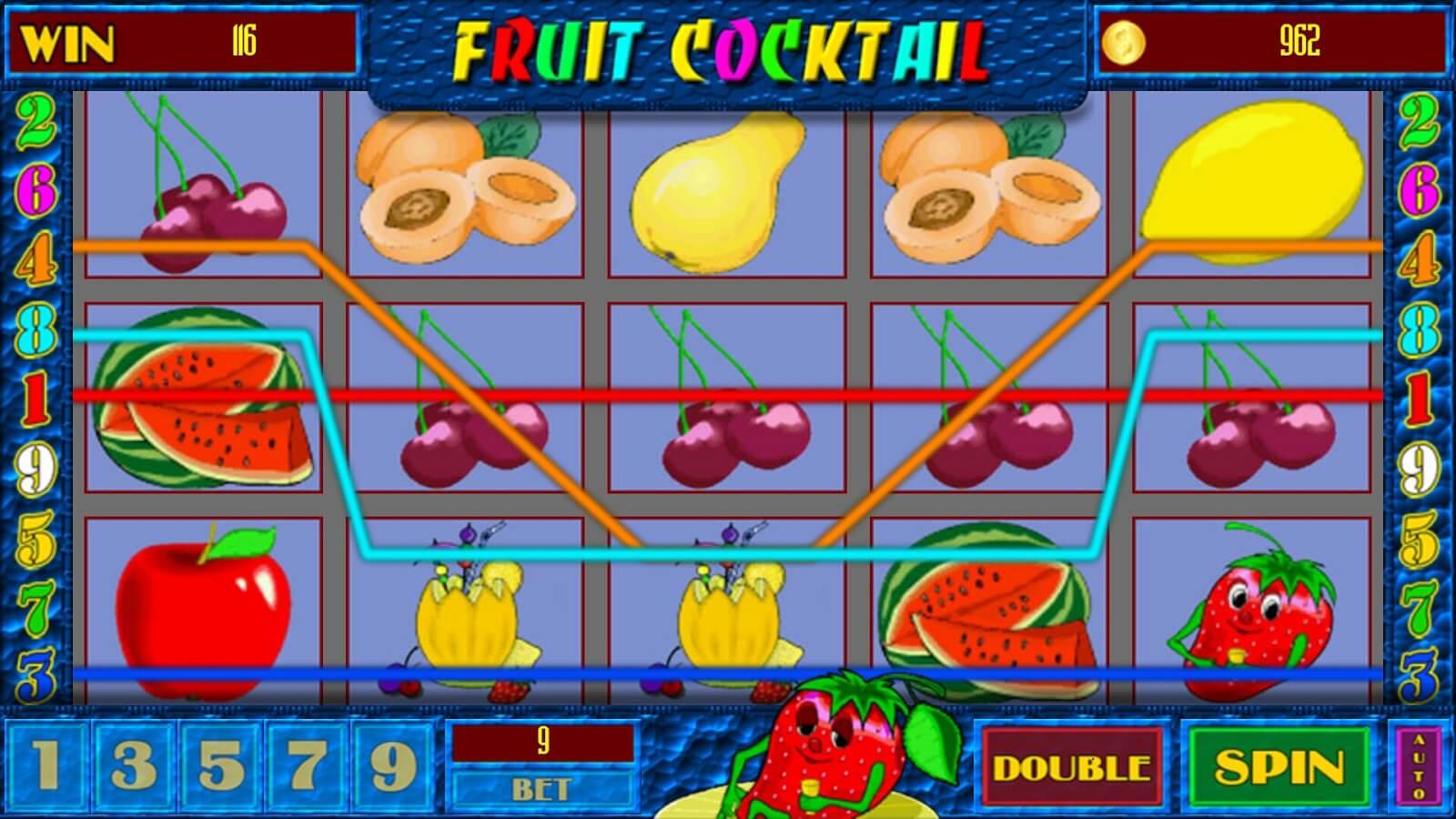 фрукты вулкан играть