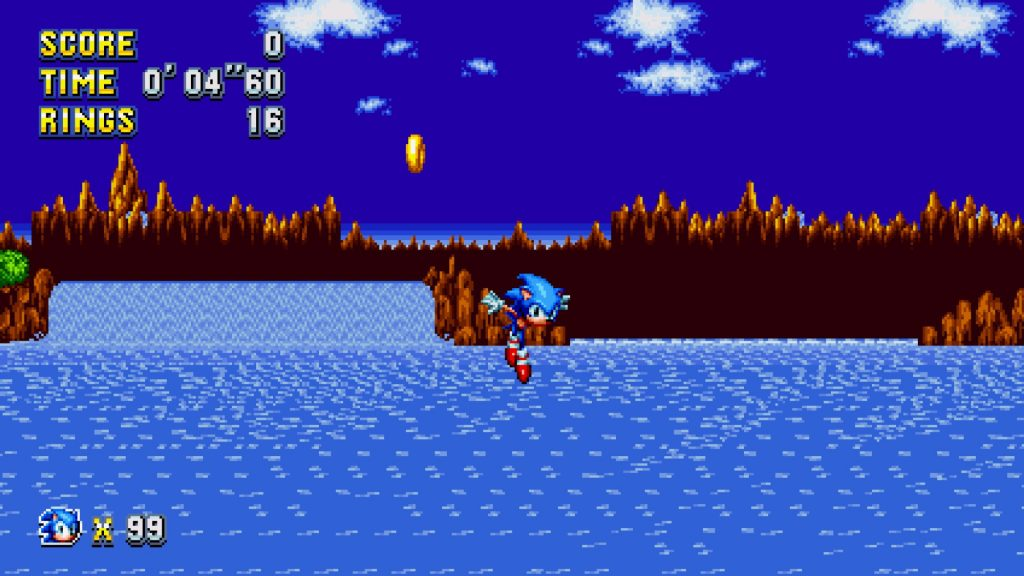 Sonic Mania Falling with style
