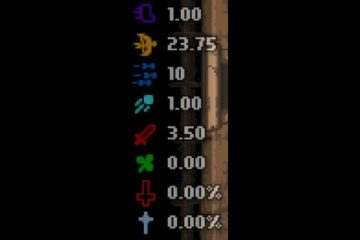 The Binding of Isaac: Afterbirth Color Stat HUD