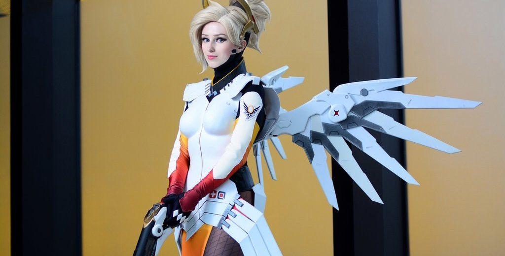 Косплей ангела из Overwatch