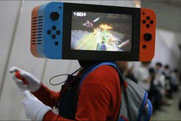 Косплей для головы в виде Nintendo Switch