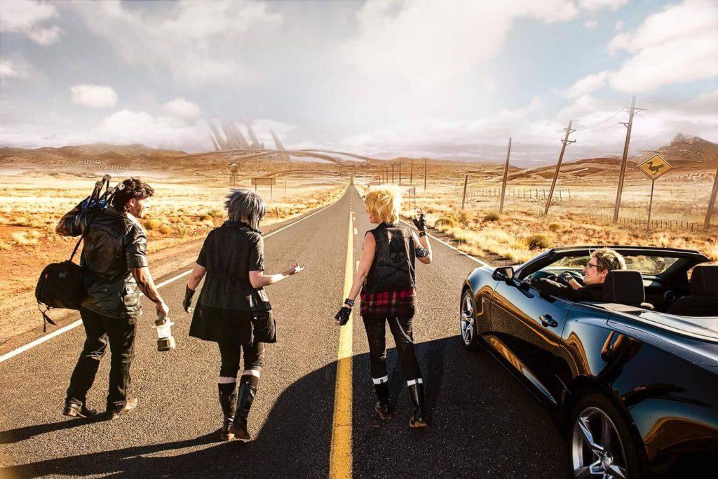 Косплей Final Fantasy штурмует дорогу