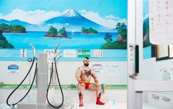Косплей Зангиев в японской общественной бане