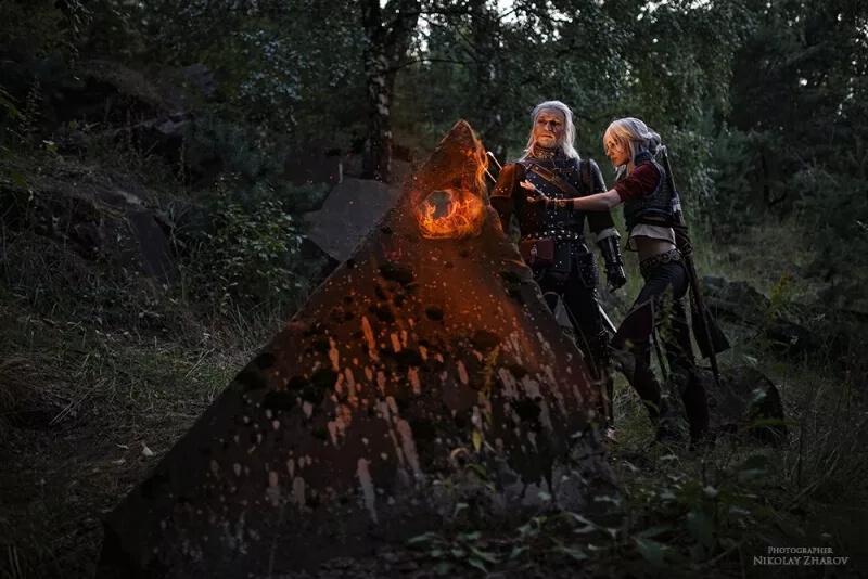 Семейный косплей Ведьмака