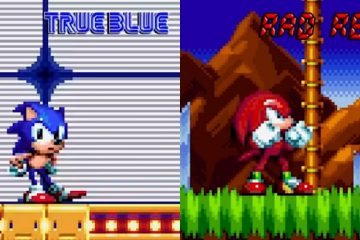 Sonic Mania True Blue Sonic & Rad Red Knuckles