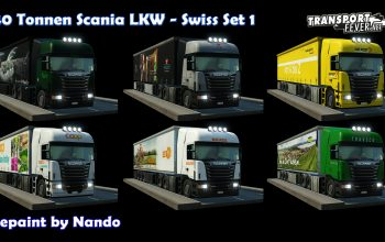Transport Fever 40 tons Truck Set Swiss 1