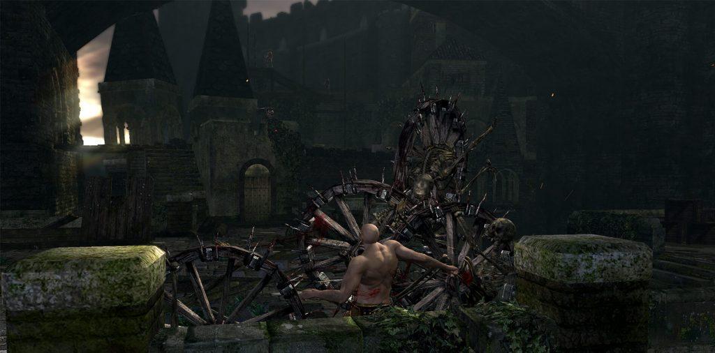 Устрашающий мод для Dark Souls «Скелеты-колёса повсюду»