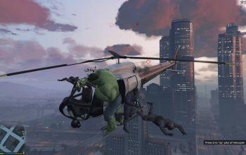 Мод Hulk для GTA 5 позволит плющить телом НИПов с 10000 футов