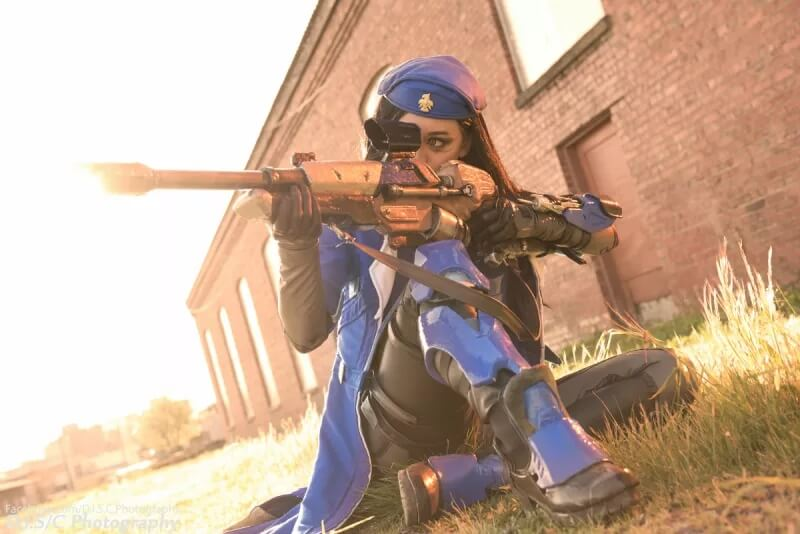 Капитан Амари из Overwatch, с отчетом за работу