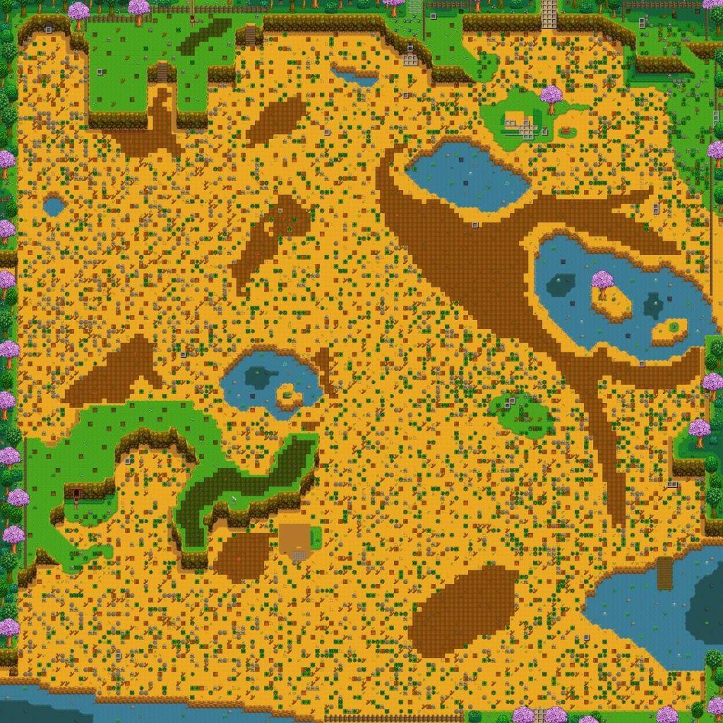 Community Farm – это карта для Stardew Valley, состоящая из 24.000 тайлов, и, рассчитанная на 10 человек