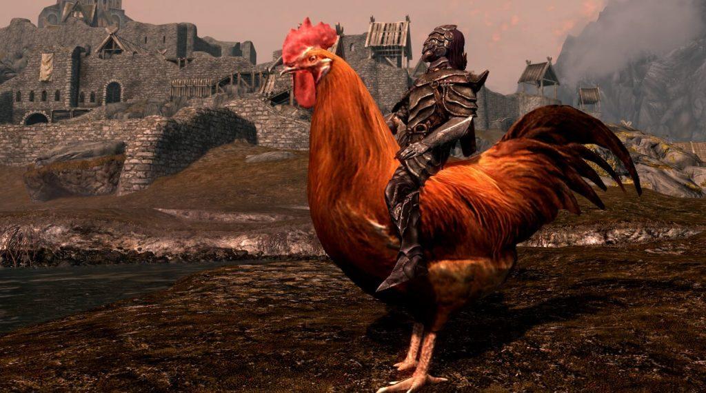 Мод для Skyrim, добавляющий в игру возможность оседлать гигантских уток и куриц