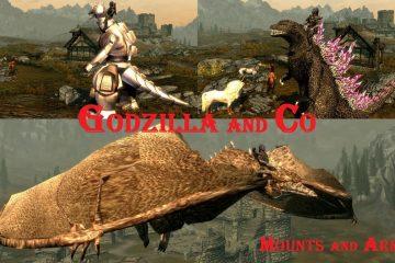 Наконец-то, мод для Skyrim, который позволит вам прокатиться на Годзилле-мехе