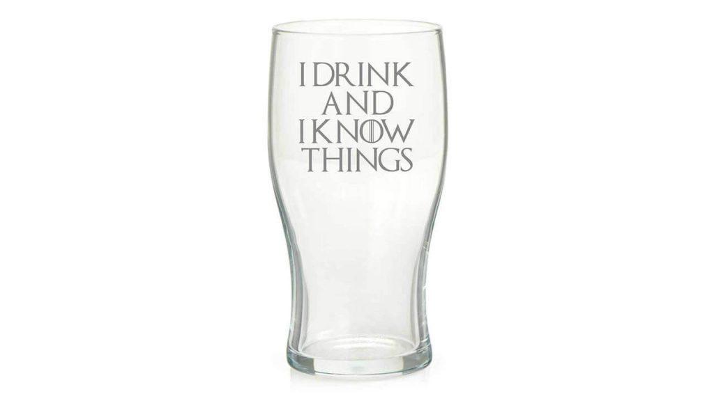 """Бокал для пива """"Пить и все знать"""""""
