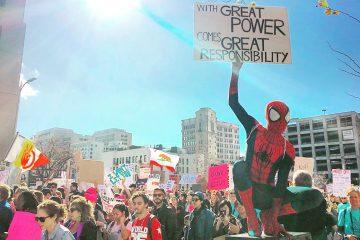 Человек-паук знает, как протестовать в 2017 году
