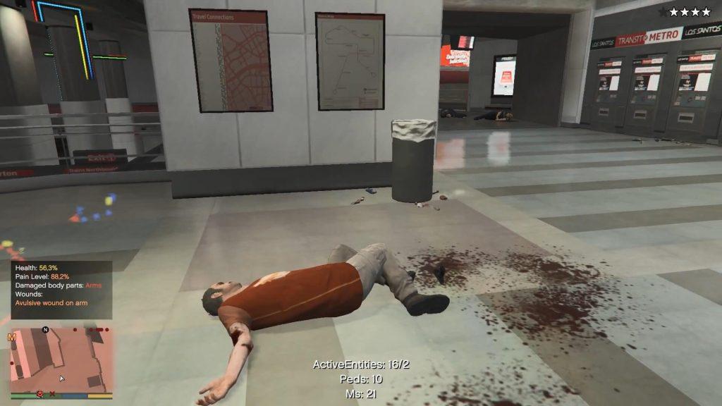Реалистичный мод для GTA 5 добавляет повреждение нервов, сердечные приступы и внутренние кровотечения