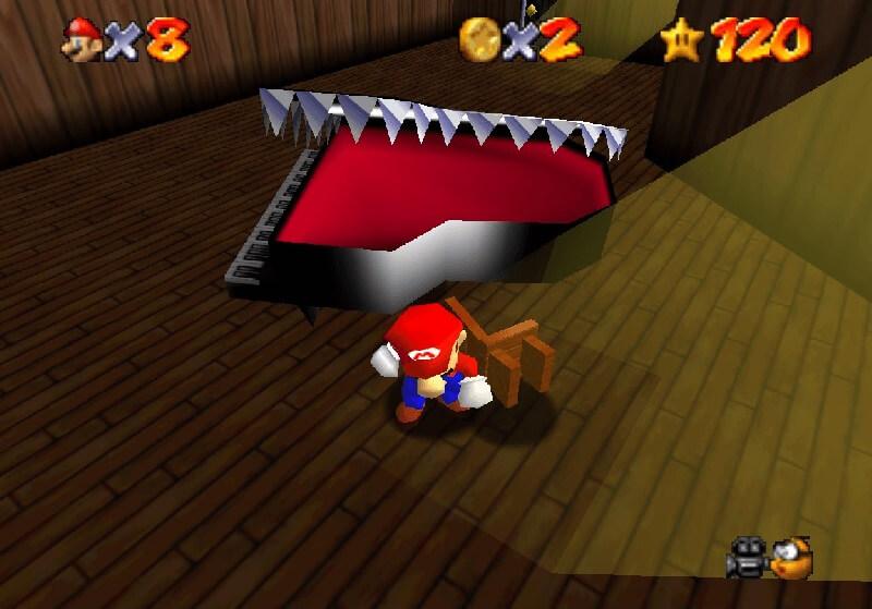 Безвредное пианино (Super Mario 64)