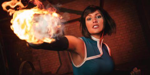 Косплеер Korra повелевает огнем как настоящий мастер