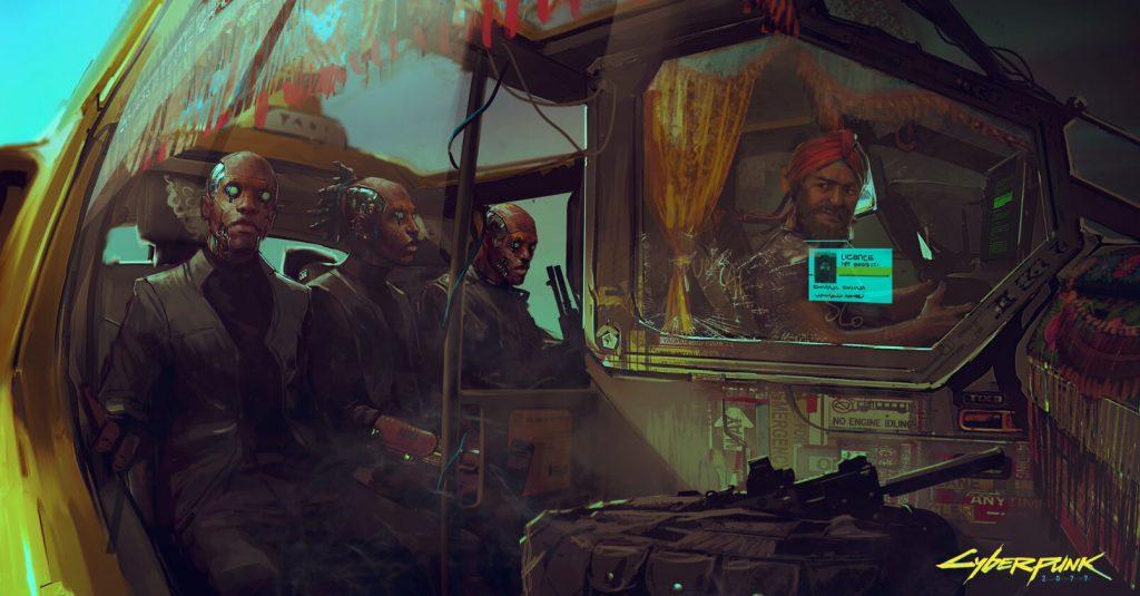 Показаны новые примеры концептуальной графики Cyberpunk 2077