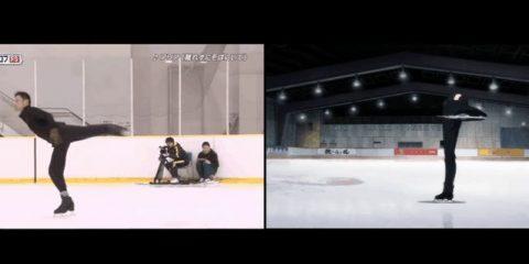 Реальные фигуристы воссоздают Юрия на льду