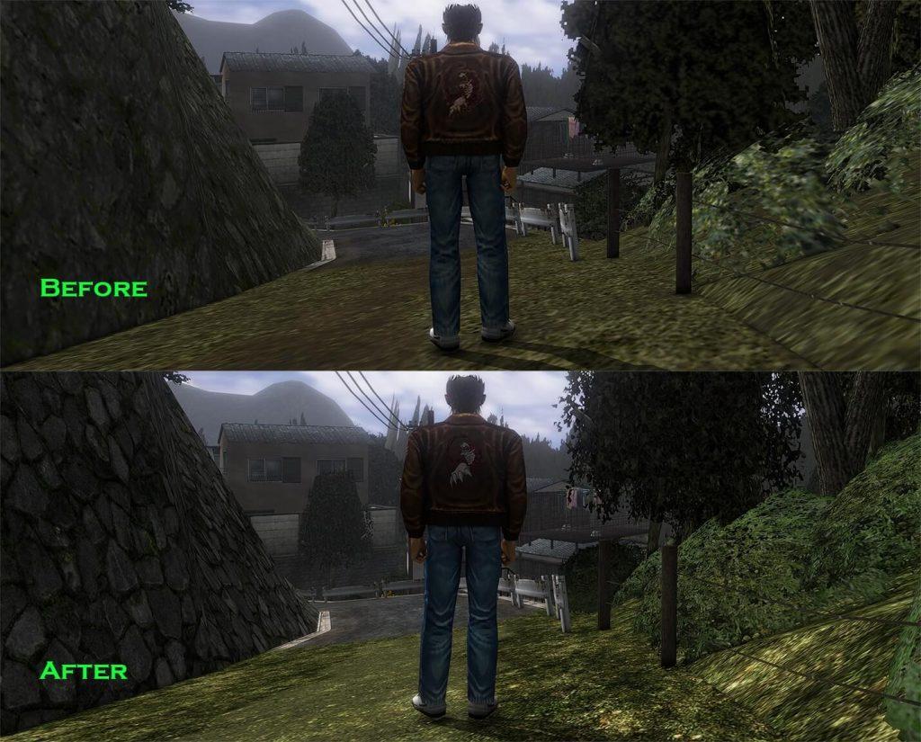 Мод с набором HD текстур для игры Shenmue 1 и 2