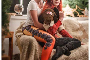 Tracer и Emily празднуют Рождество в стиле Overwatch